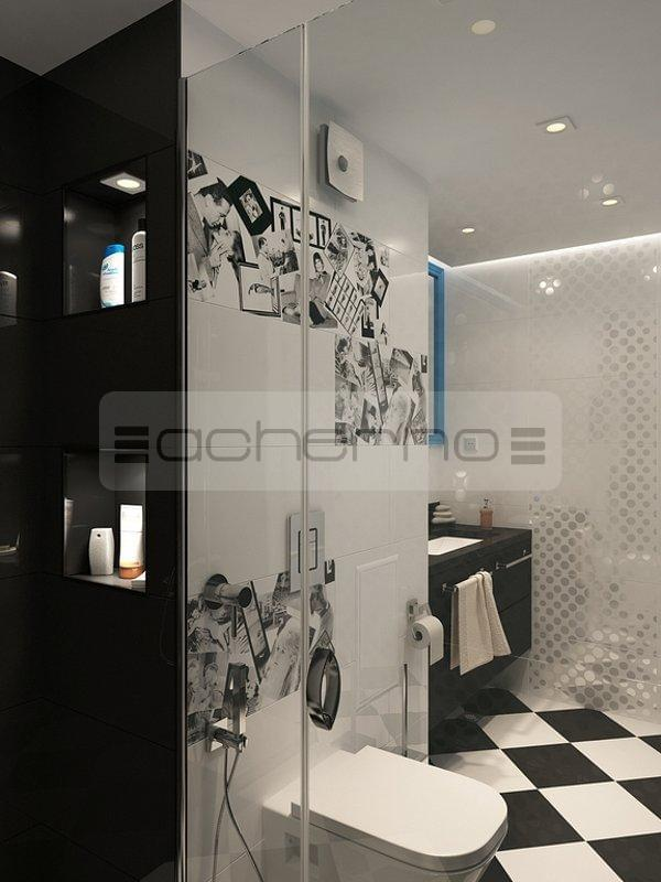 Acherno eklektisches wohnung design for Raumgestaltung badezimmer