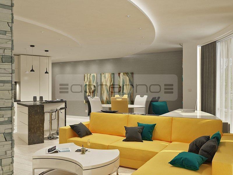 Acherno innarchitektur die die farbe feiert for Raumgestaltung wohnzimmer