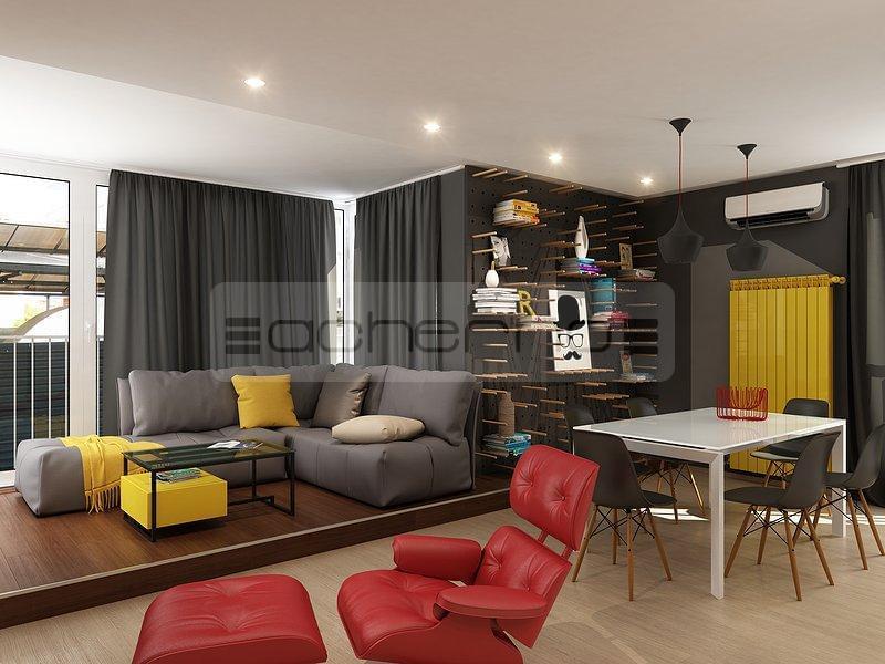 kreativ mit gelb und rot - Wohnung Design
