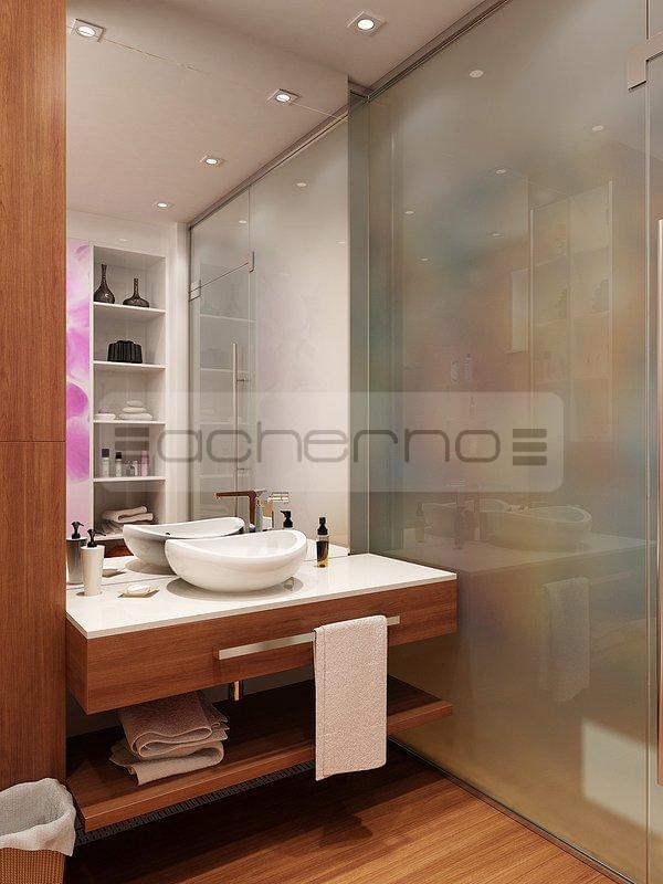 Acherno raumgestaltung mit kontrastreichen akzenten for Badezimmer einrichtungsideen