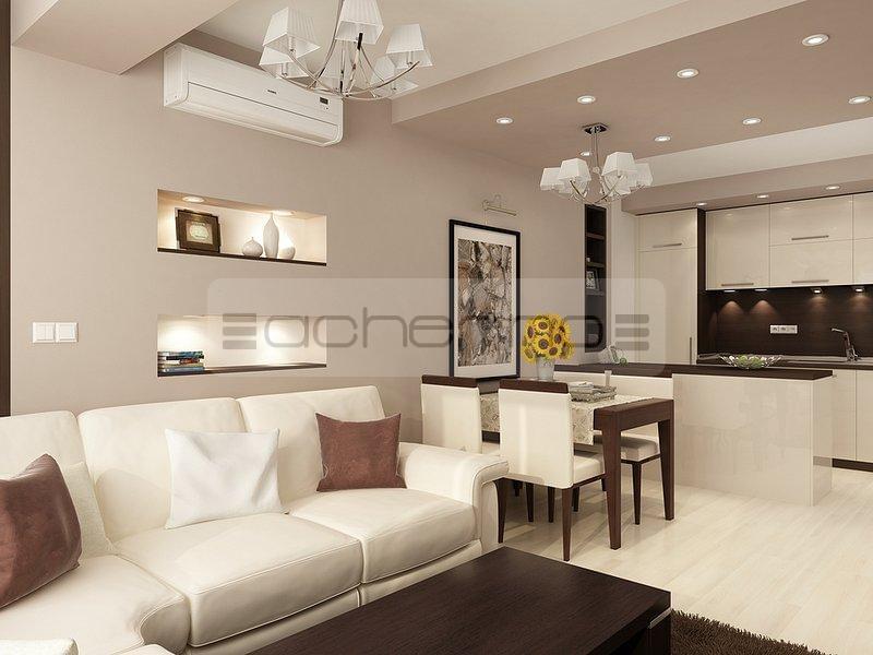 wohnzimmer design braun:Acherno – Raumgestaltung Ideen in beliebtem Braun und Weiß