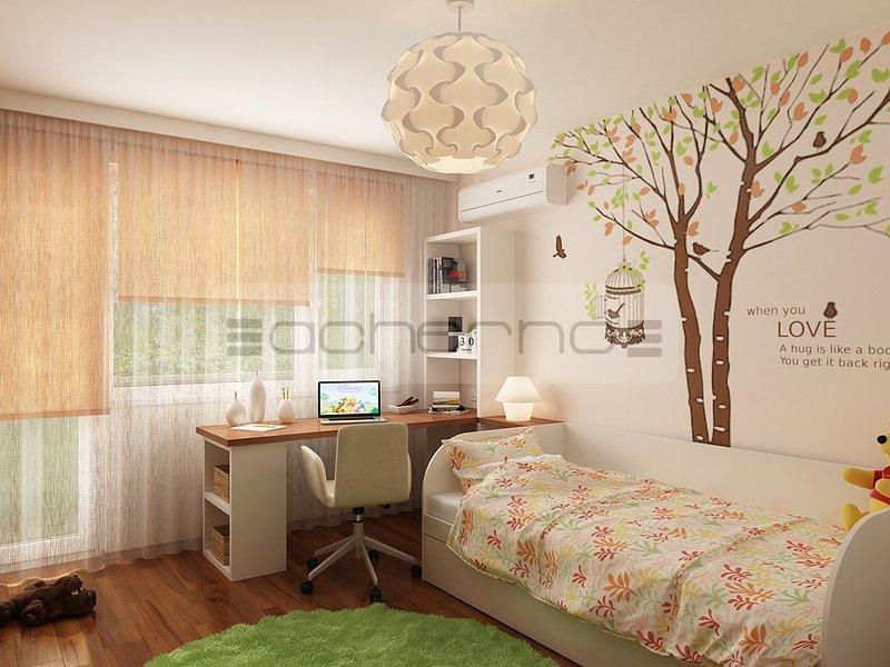 Acherno modernes wohnung design in frischen farben - Einrichtungsideen fur kinderzimmer ...