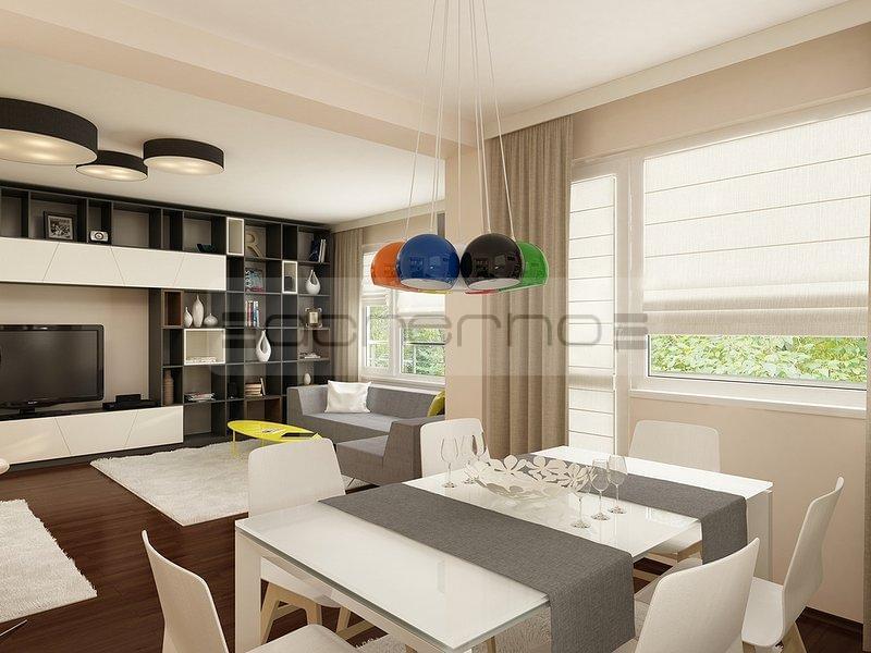 Acherno modernes wohnung design in frischen farben for Innenarchitektur esszimmer