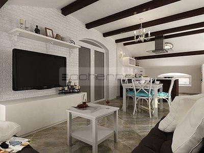 Raumgestaltung Sommerhaus In Türkis Und Weiß