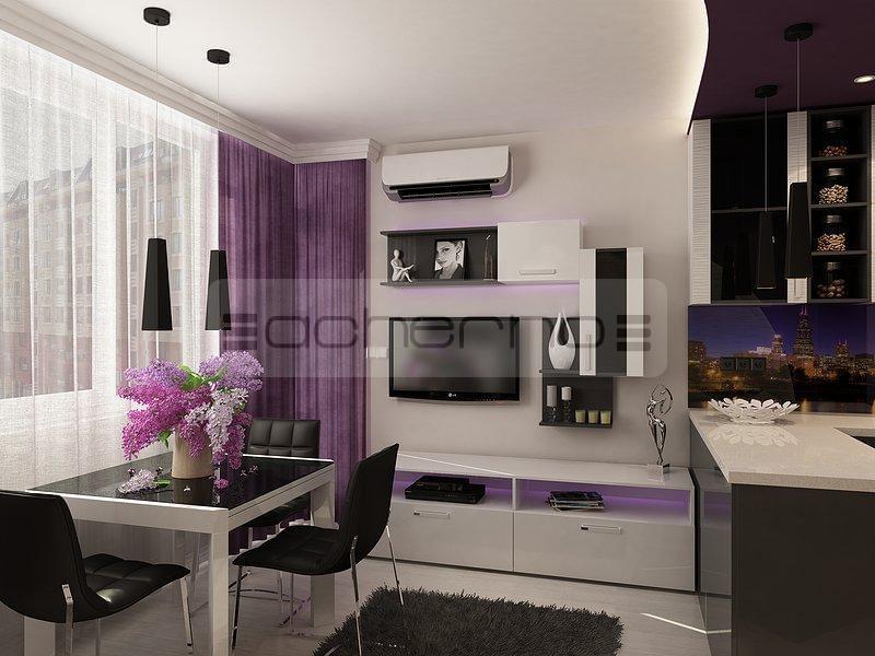 Acherno Wohndesign Ideen In Violett Und Dunkelgrau