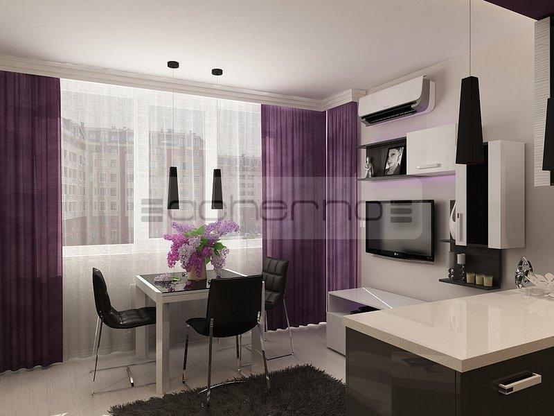 Acherno - Wohndesign Ideen in Violett und Dunkelgrau
