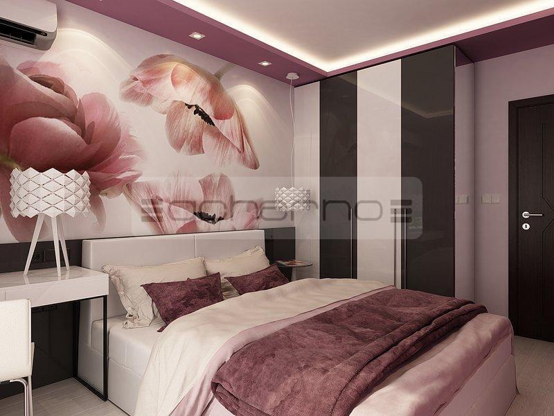 Acherno wohndesign ideen in violett und dunkelgrau - Raumgestaltung schlafzimmer ...