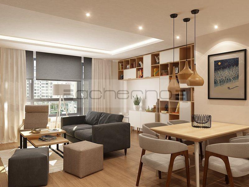 acherno - wohnen im skandinavischen raumdesign, Wohnzimmer design